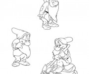 Coloriage Le nain Timide blanche neige