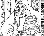 Coloriage Les pommes empoisonnées de la sorcière