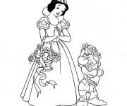 Coloriage et dessins gratuit Neige et Grincheux à imprimer