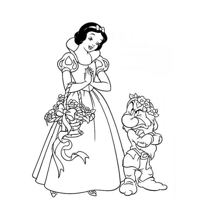Coloriage et dessins gratuits Neige et Grincheux à imprimer
