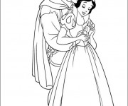 Coloriage dessin  Prince charmant câline blanche neige