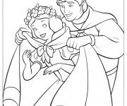 Coloriage Prince couvre blanche neige