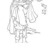 Coloriage Snow white et son prince 2