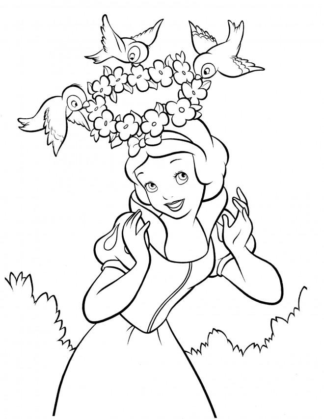Coloriage et dessins gratuits Tête de princesse à imprimer