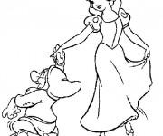 Coloriage Timide accompagne blanche en dance