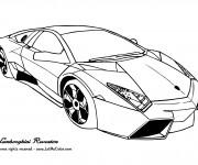 Coloriage et dessins gratuit Automobile Lamborghini Reventon à imprimer