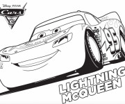 Coloriage Cars 3 avec Lightning McQueen