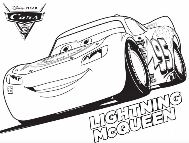 Coloriage cars 3 avec lightning mcqueen dessin gratuit - Cars 2 coloriage ...
