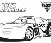 Coloriage Cars 53 avec Cruz Ramirez