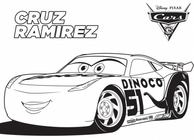 Coloriage et dessins gratuits Cars 53 avec Cruz Ramirez à imprimer