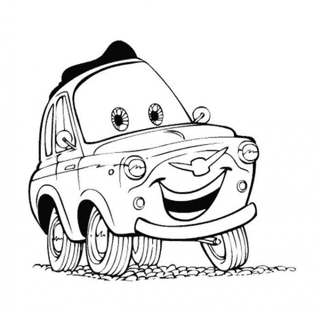 Coloriage et dessins gratuits Cars Andrea à imprimer