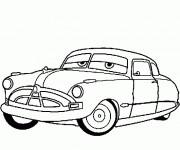 Coloriage et dessins gratuit Cars Disney Doc Hudson Hornet à imprimer