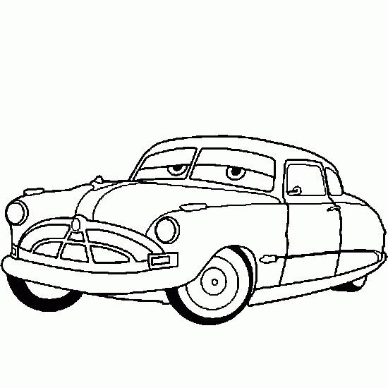 Coloriage et dessins gratuits Cars Disney Doc Hudson Hornet à imprimer