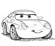 Coloriage et dessins gratuit Cars Disney Sally Carrera à imprimer