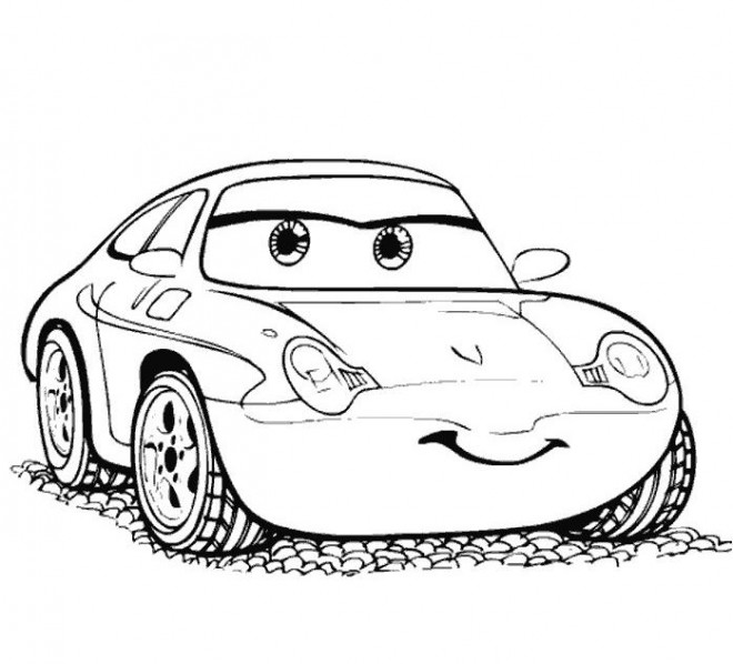 Coloriage et dessins gratuits Cars Disney Sally Carrera à imprimer