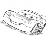Coloriage et dessins gratuit Cars Flash Mcqueen à imprimer
