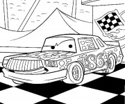Coloriage Cars Greg Candyman