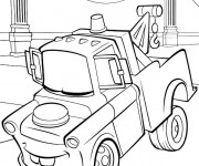 Coloriage et dessins gratuit Cars Martin remorqueur à imprimer