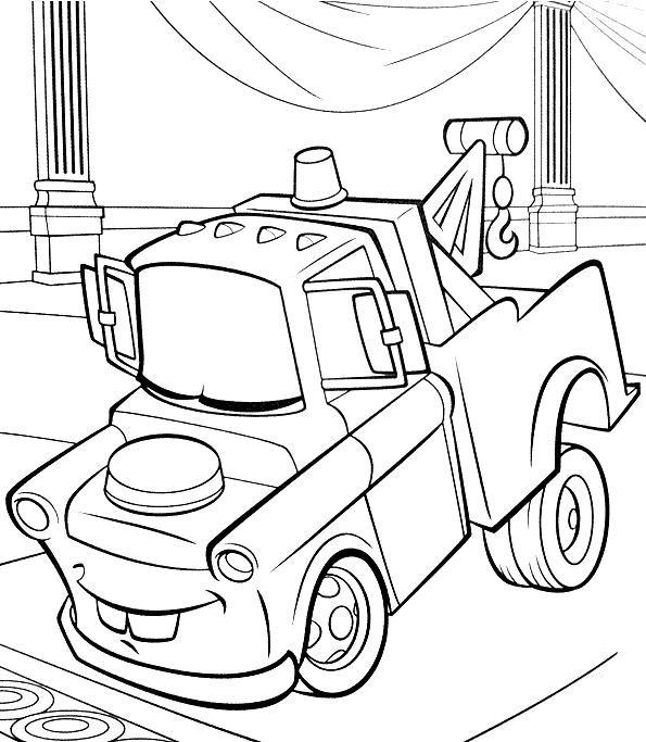 Coloriage Cars Et Martin.Coloriage Cars Martin Remorqueur Dessin Gratuit A Imprimer