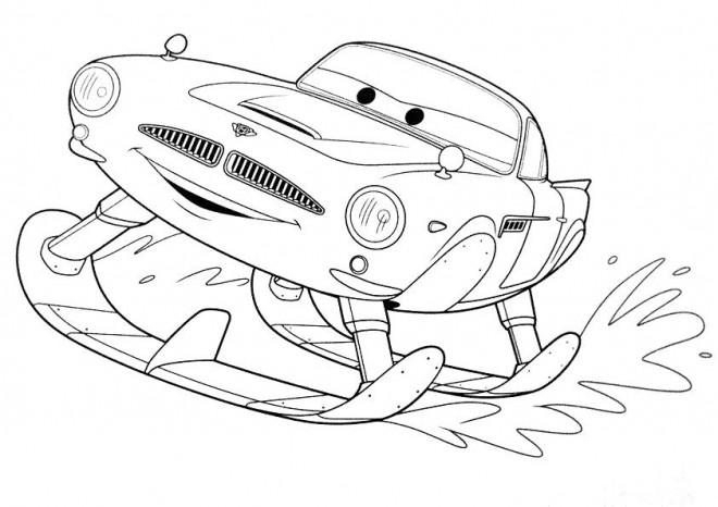 Coloriage et dessins gratuits Cars skieur à imprimer