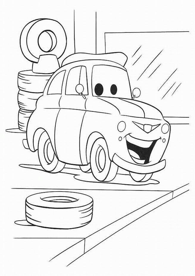 Coloriage et dessins gratuits Cars Vroomaroundus bugus pixar Disney à imprimer