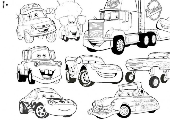 Coloriage Flash Mcqueen Et Doc Hudson.Lovely Coloriage Cars Flash Mcqueen Nouveau Coloriage Cars