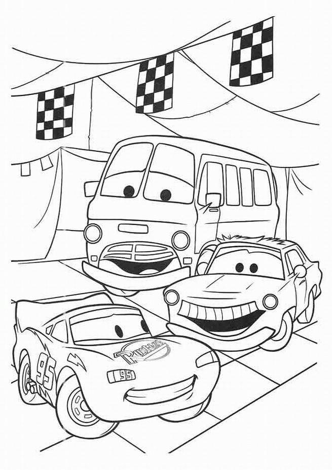 Coloriage flash mcqueen pour enfant dessin gratuit imprimer - Car dessin anime gratuit ...