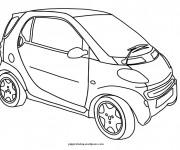 Coloriage et dessins gratuit Une Mini voiture à imprimer