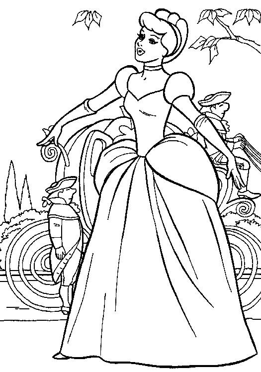 Coloriage Cendrillon Walt Disney Dessin Gratuit à Imprimer