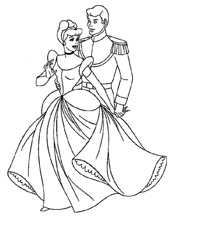 Coloriage Princesse Qui Danse Avec Prince.Top 50 Coloriage Cendrillon Et Son Prince Coloriage A Imprimer