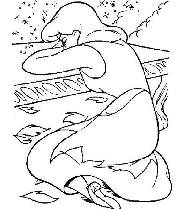 Coloriage et dessins gratuits Cendrillon entrain de pleurer à imprimer