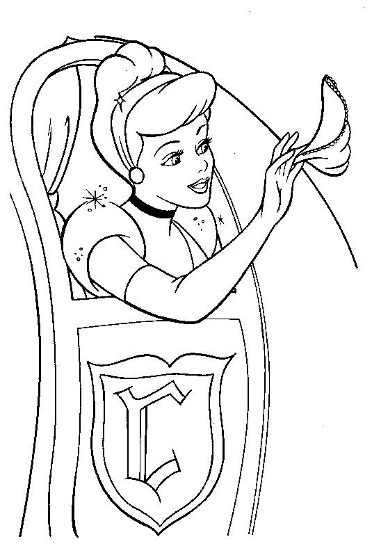 Coloriage et dessins gratuits Cendrillon envoit ses adieux à imprimer