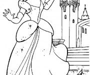 Coloriage Cendrillon fait tomber ses chaussures