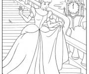Coloriage dessin  Cendrillon laissa tomber son pantoufle de vair