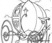 Coloriage et dessins gratuit La carrosse de Cendrillon à imprimer