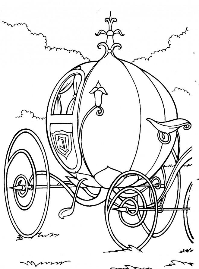 Dessin Carrosse coloriage la carrosse de cendrillon dessin gratuit à imprimer
