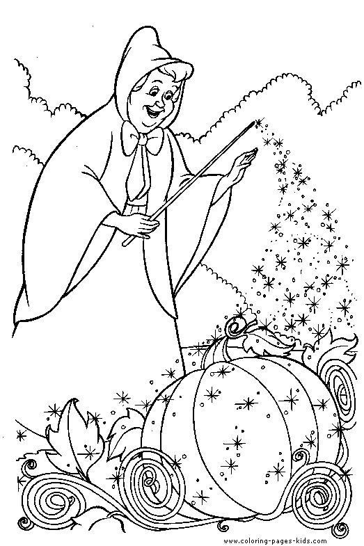 Coloriage et dessins gratuits La fée charmente la citrouille à imprimer