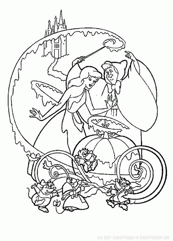 Coloriage et dessins gratuits La magie de la fée à imprimer