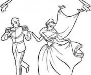 Coloriage La mariage de Cendrillon avec Prince Henri