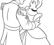 Coloriage et dessins gratuit La Prince charmant  et Cendrillon à imprimer