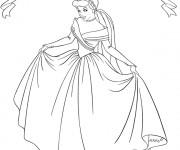 Coloriage et dessins gratuit La reine Cendrillon à imprimer