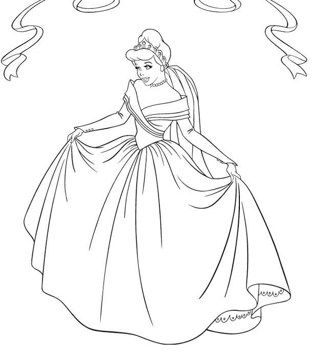 Coloriage et dessins gratuits La reine Cendrillon à imprimer