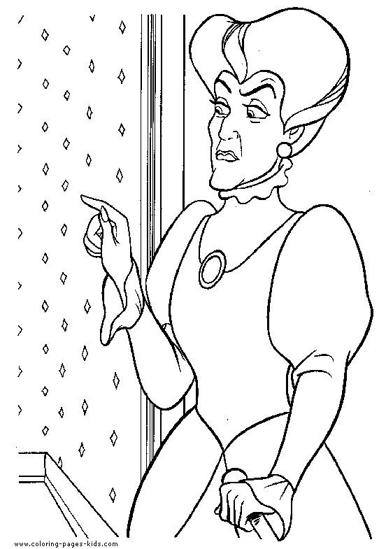 Coloriage et dessins gratuits Lady Trémaine: Cendrillon à imprimer