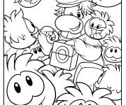 Coloriage Club Penguin 3