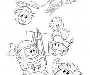 Coloriage Club Penguin 4