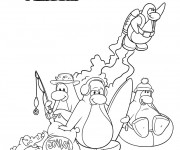 Coloriage Club Penguin à colorier