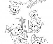 Coloriage Club Penguin à décorer