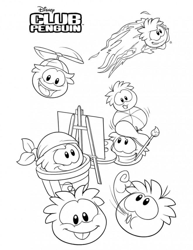 Coloriage et dessins gratuits Club Penguin à décorer à imprimer