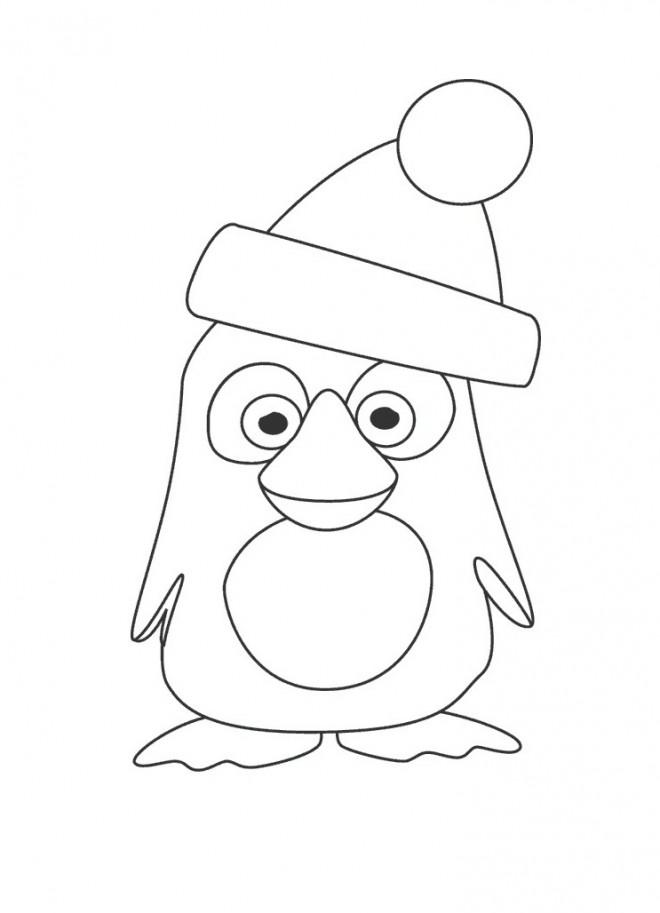 Coloriage Club Penguin De Noel Facile Dessin Gratuit A Imprimer