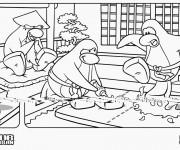 Coloriage et dessins gratuit Club Penguin drôle à imprimer